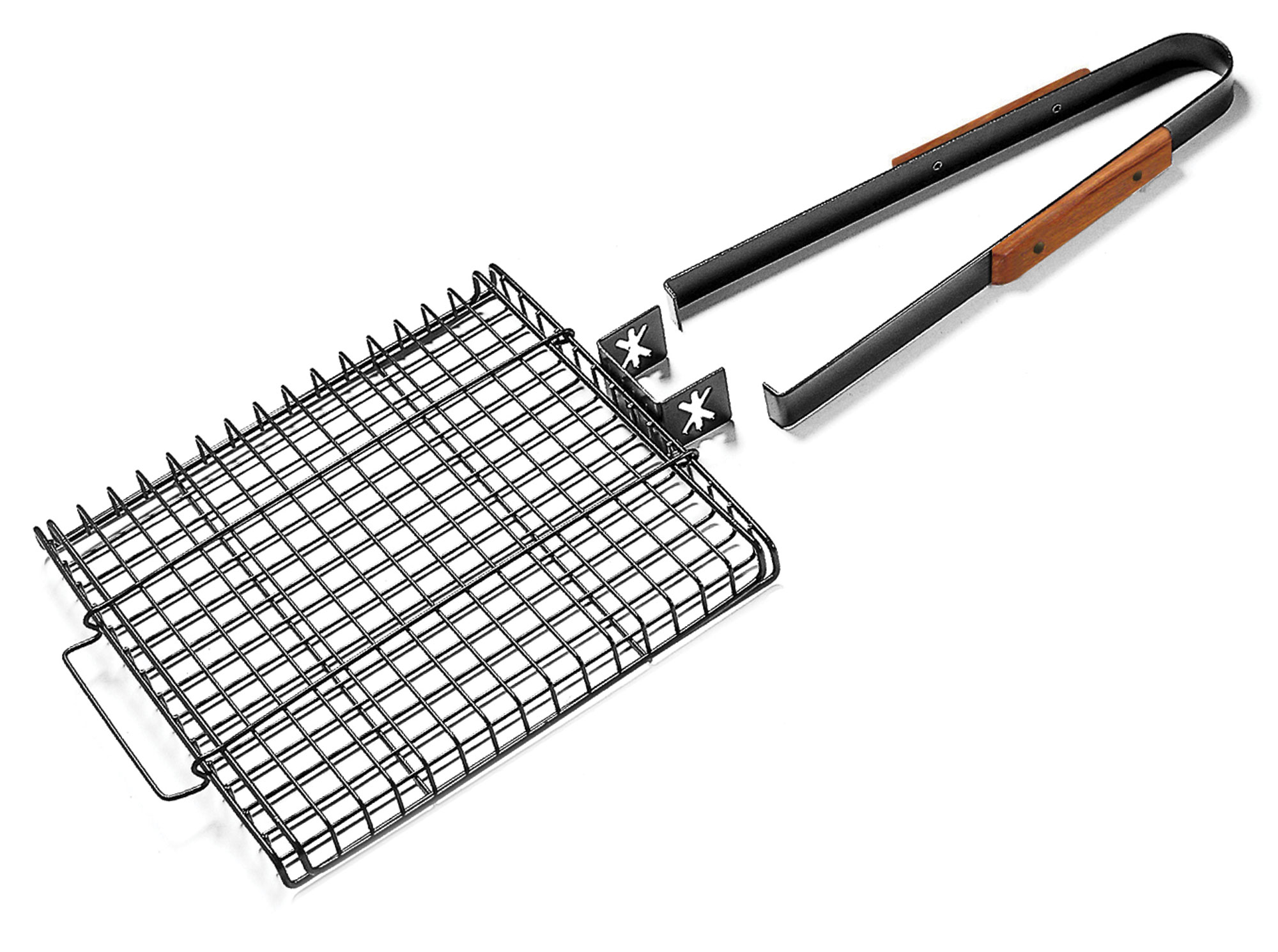 Charcoal Companion Ultimate Grilling Basket with Removable