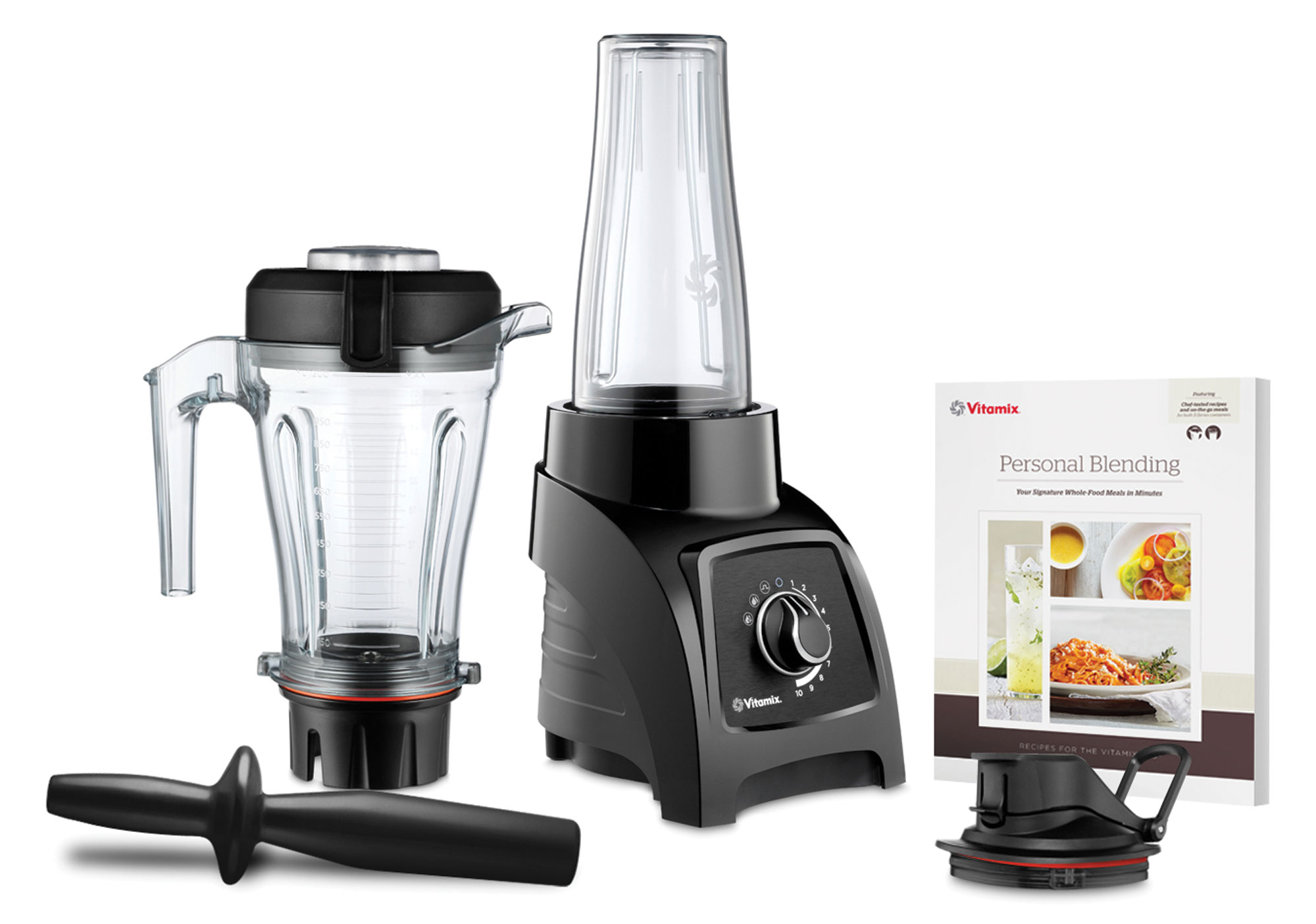 Vitamix S50 Personal Blender with Travel Container 40oz Black  Cutlery and More