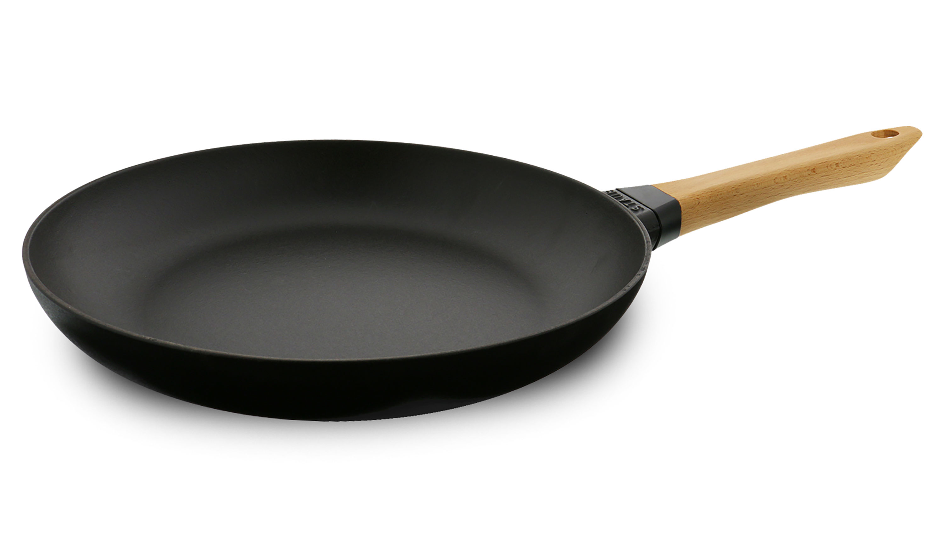 Staub Matte Black Traditional Cast Iron Fry Pan With