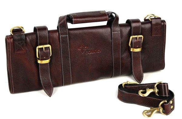 Boldric Leather Knife Bag 17-pocket Brown Cutlery