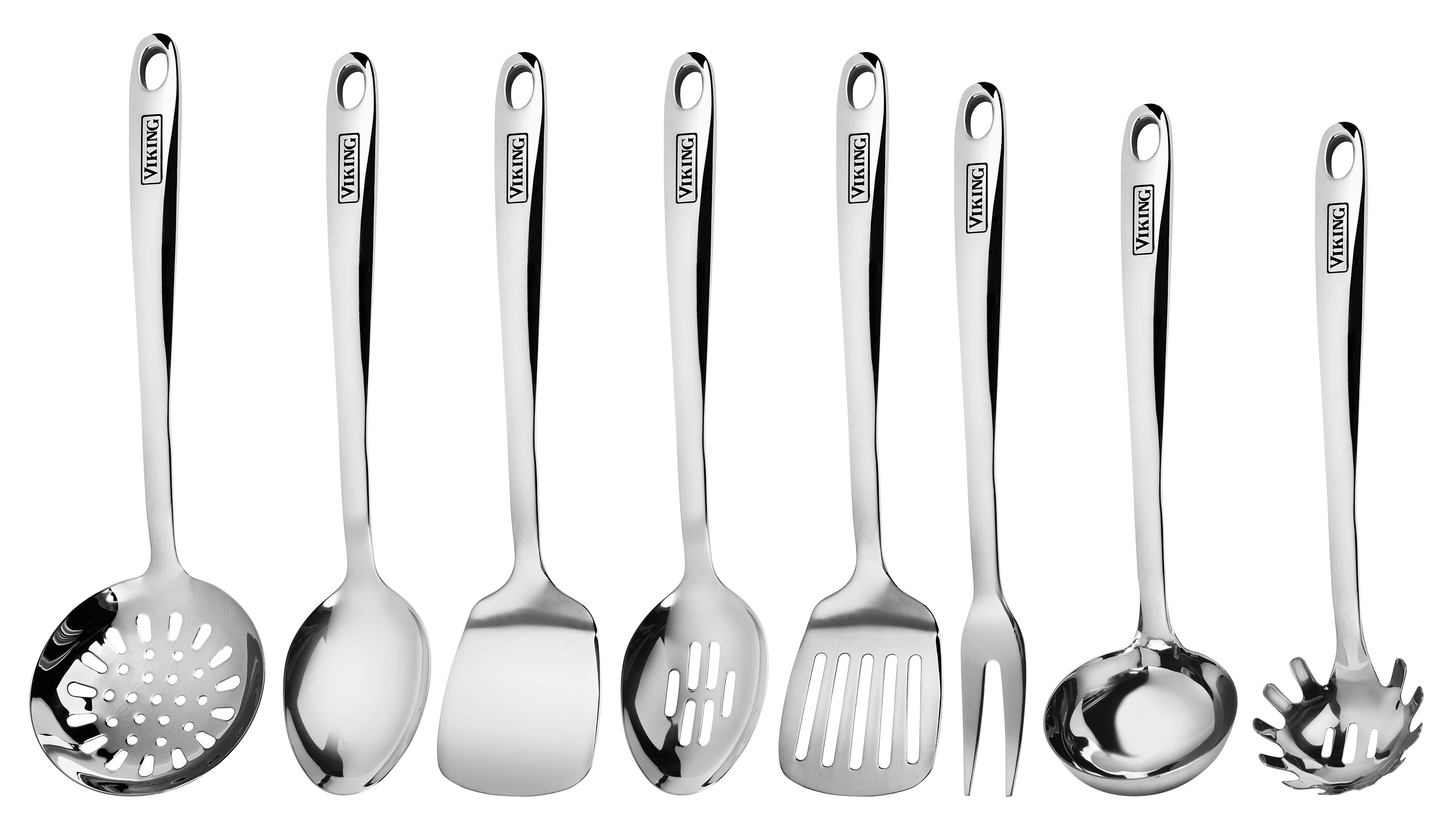 kitchen tool set america's test knives viking stainless steel utensil 8 piece cutlery and more