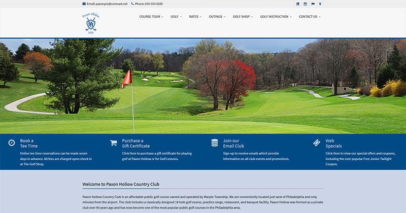 golf course responsive website
