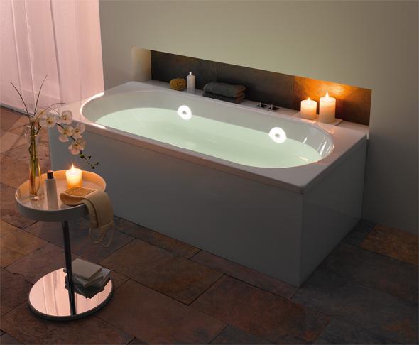 Badezimmer Beleuchtung mit LED  Einbauleuchten modern gestalten