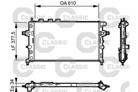 Kühler (Wasserkühler, Zubehör) Opel Astra G CC [F48,F08