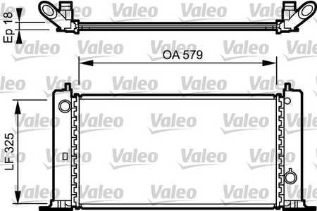 Kühler (Wasserkühler, Zubehör) Fiat Stilo Multiwagon [192