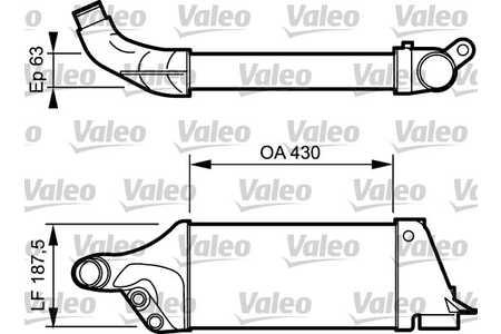 Ladeluftkühler (Aufladung, Turbolader) Audi 80 B4 [8C] bis