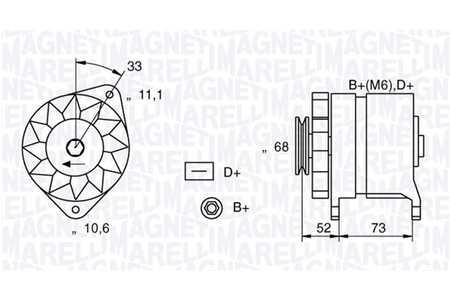 Coches: recambios Alternador generador Magneti Marelli