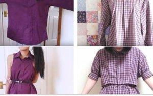 Transforme velhas camisas do seu marido em lindos vestidos para você arrasar na moda!