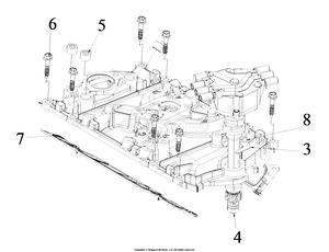 medium resolution of engine service parts intake manifold distributor