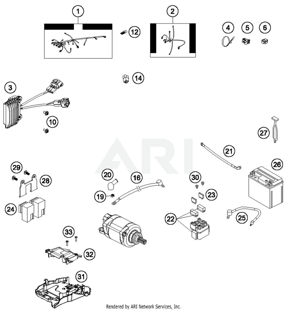 medium resolution of 2015 husqvarna fe501 wiring harness parts best oem wiring harness fe 501 wiring diagram