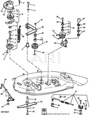 John Deere 48 Inch Mower Deck Belt Diagram : deere, mower, diagram, Deere, LX172, Tractor, Without, Mower, -PC2317, Model, M0L172A090001-110000, M0L172A110001-130000, M0L172A160001-999999