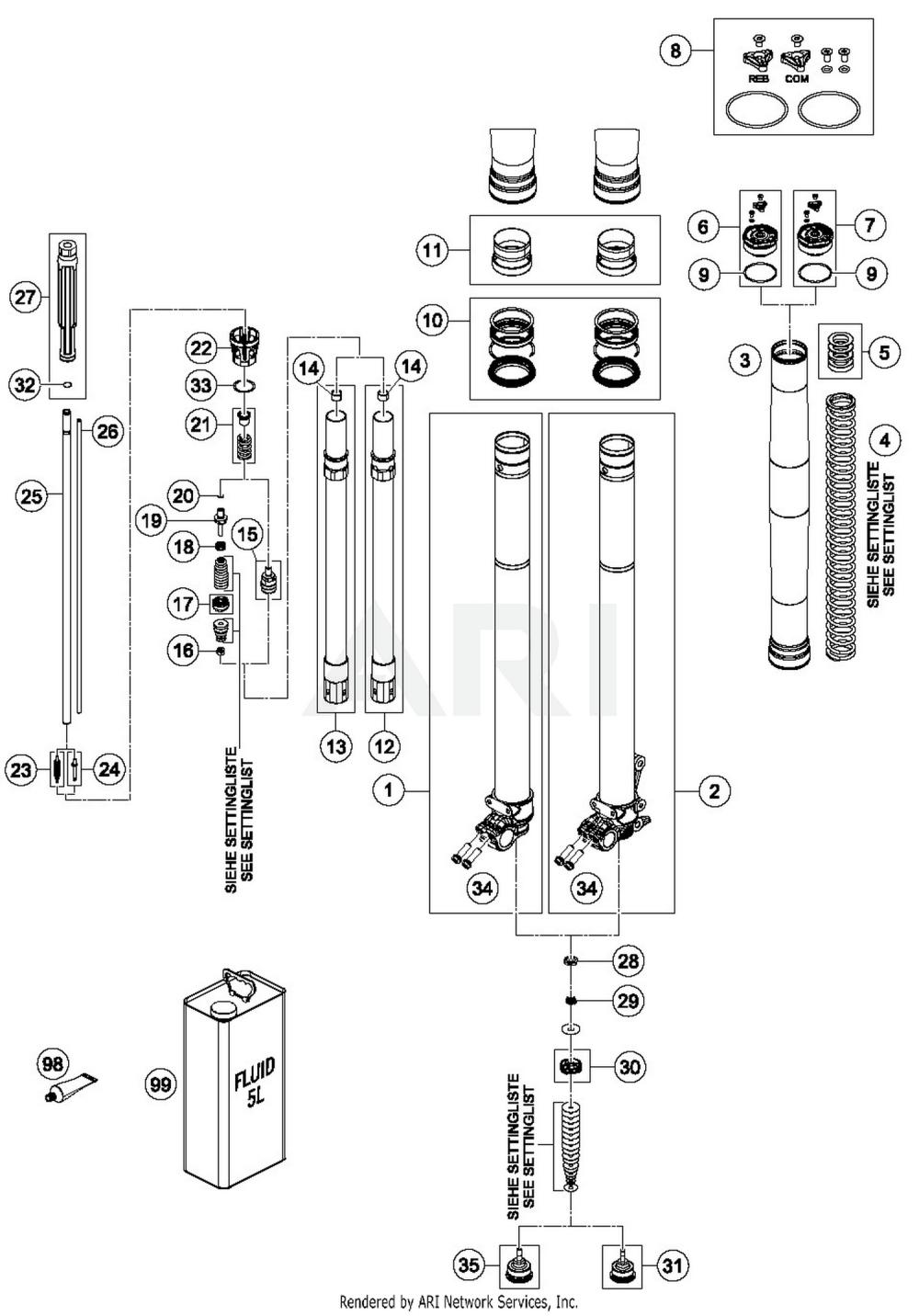 medium resolution of 2019 ktm 300 xc w tpi front fork disassembled 15 parts best oem megasquirt wiring diagram ktm 300 tpi wiring diagram