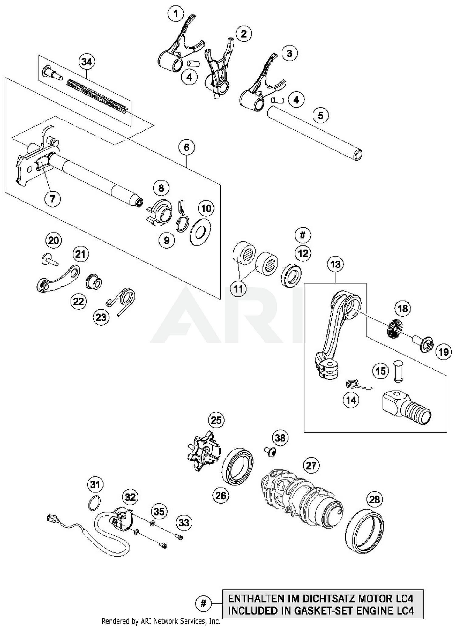 hight resolution of 2018 ktm 690 enduro r abs shifting mechanism parts best oem ktm 690 enduro parts list ktm 690 parts diagram