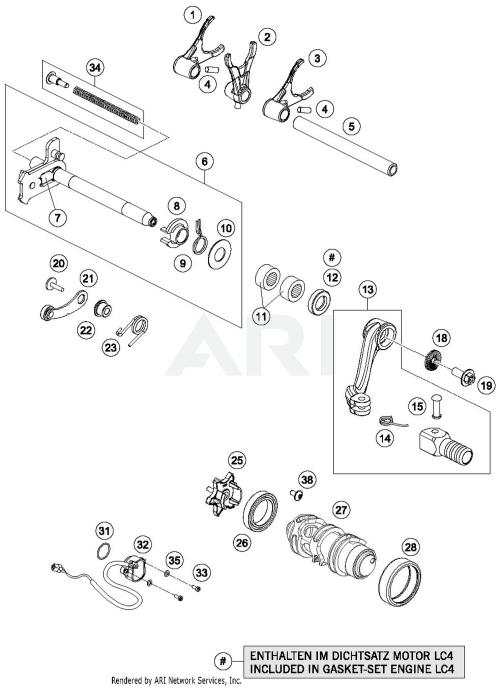 small resolution of 2018 ktm 690 enduro r abs shifting mechanism parts best oem ktm 690 enduro parts list ktm 690 parts diagram