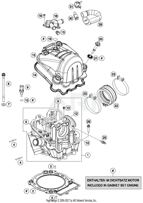 small resolution of 2017 ktm 690 enduro r abs cylinder head parts best oem ktm 690 smc parts list ktm 690 parts diagram