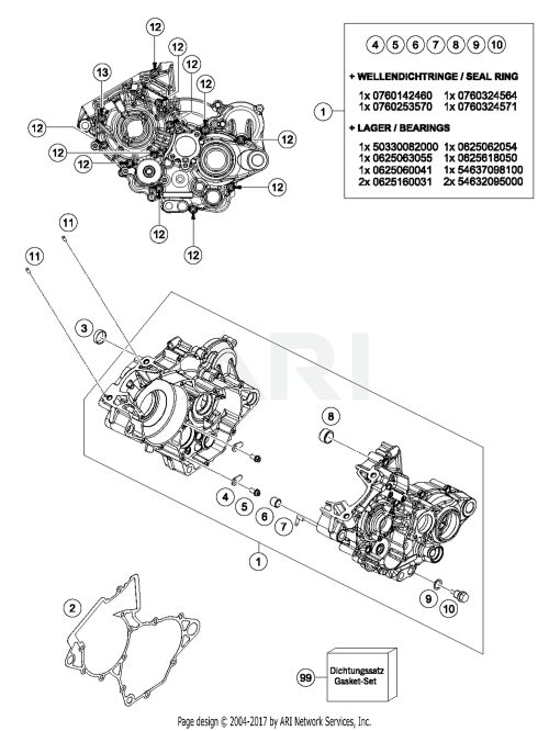 small resolution of 2017 ktm 125 sx engine case parts best oem engine case partsschematic search results 0