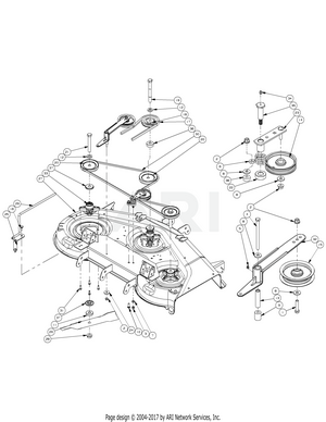 hight resolution of mower deck 50 spindle assembly 2006 cub cadet z force