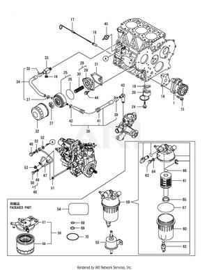 yanmar 3tnv82a bdcb lubrication oil system [ 1500 x 1941 Pixel ]