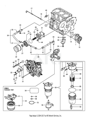 medium resolution of yanmar 3tnv82a bdcb lubrication oil system