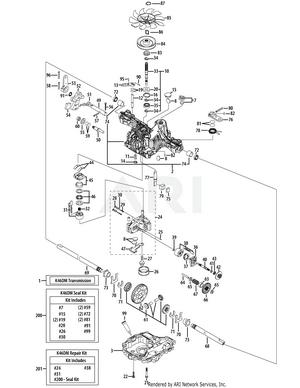 Tuff Torq K46 Rebuild Kit : rebuild, Cadet, XT1-LT50, Tractor, (2015), 13AQA1CQ009, 13AQA1CQ010, 13AQA1CQ056, 13WQA1CQ009, 13WQA1CQ010, Hydrostatic, Transmission, (Tuff-Torq, 618-06972)