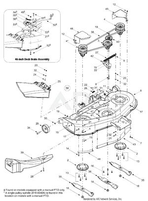 Huskee 46 Inch Deck Belt Diagram : huskee, diagram, Huskee, 13AJ608H131, (2002), PartsWarehouse