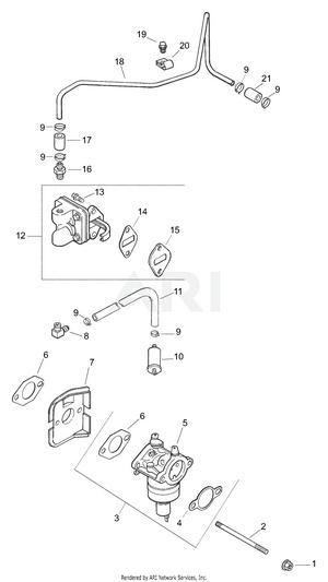 hight resolution of kohler engine carburetor fuel pump
