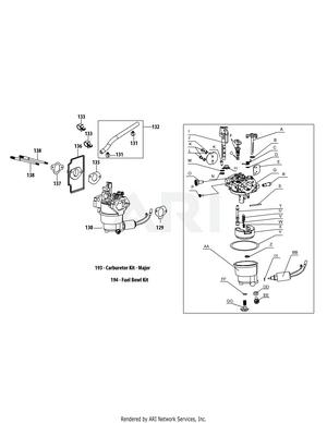 medium resolution of troy bilt 13b226jd066 tb30 2015 tb30r neighborhood rider 13b226jd066 2015 4p90juc carburetor assembly