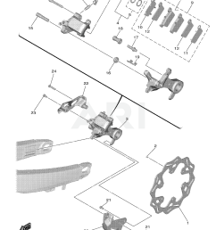 2019 yamaha yz450f rear brake caliper parts best oem brake caliper parts diagram caliper parts diagram [ 1500 x 2135 Pixel ]