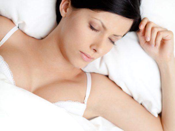 sleeping in bra