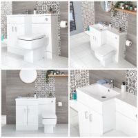 Waschtisch mit Unterschrank Kombi Set mit Stand Toilette ...