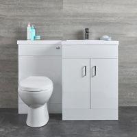 Geo Waschtisch mit Unterschrank Kombi Set mit Stand WC ...