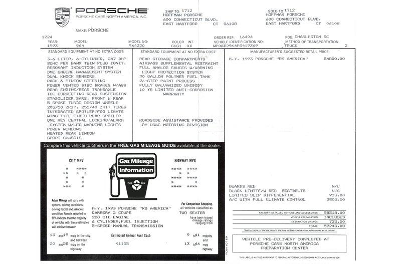 1993 Porsche 964 RS America _5950