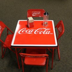 Coca Cola Chairs And Tables Ergonomic Chair Pdf Table Lot Gaa Classic Cars