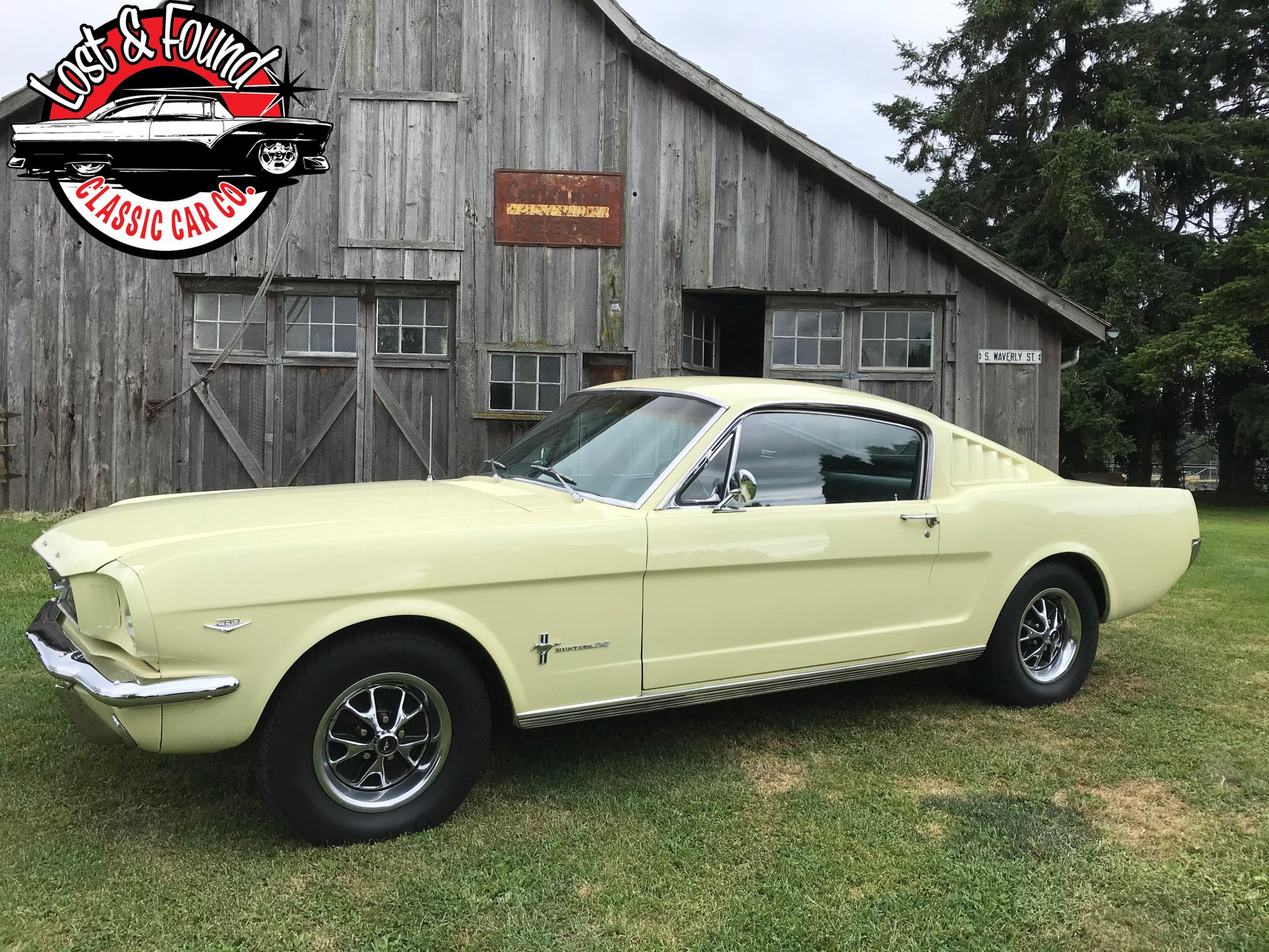 The body has slight rust in the rear quarters and the passenger side quarter has damage. 1966 Ford Mustang Fastback 2 2 Lost Found Classic Car Co