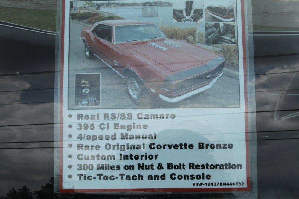 medium resolution of 1968 chevrolet camaro ss