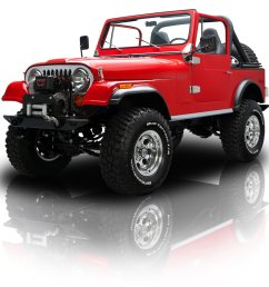frame off restored jeep cj7 401 v8 w restored trailer [ 1920 x 1280 Pixel ]