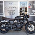 New 2020 Triumph Bonneville T120 Black Matte Black Standard Motorcycle Scooter Tm986130 Ridenow Powersports