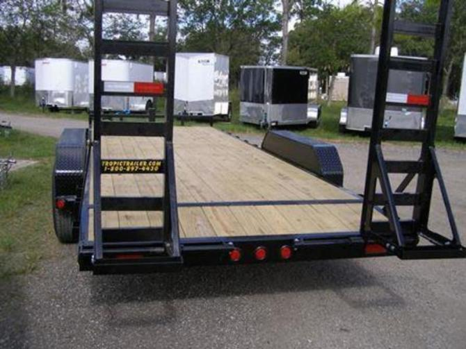 "2020 pj trailers 6"" channel equipment cc 20'  tropic trailers"