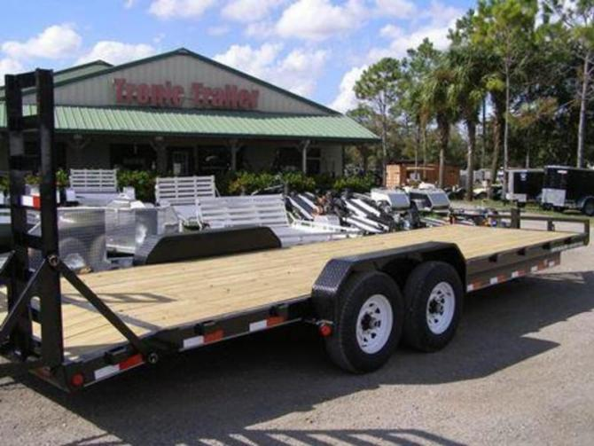 "2020 pj trailers 6"" channel equipment cc 24'  tropic trailers"