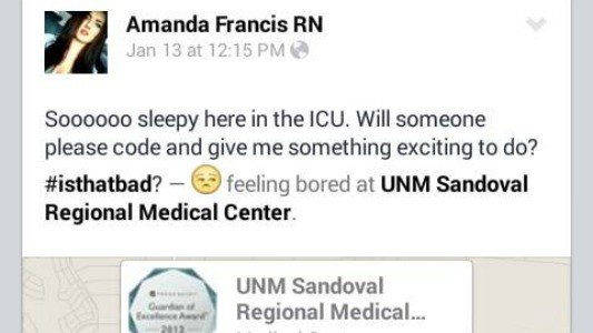 Social media posts cost UNM nurse her job