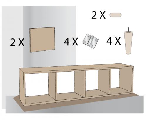 fabriquer un meuble style scandinave diy