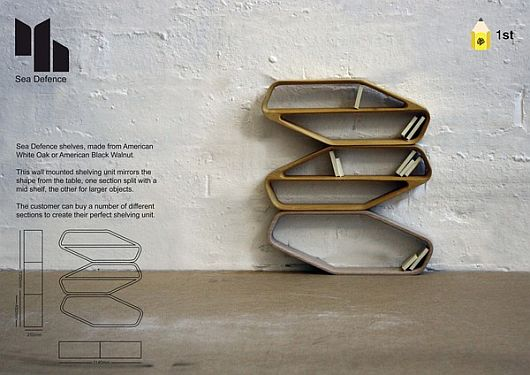 Functional Wallmounted Shelves With Irregular Designs by