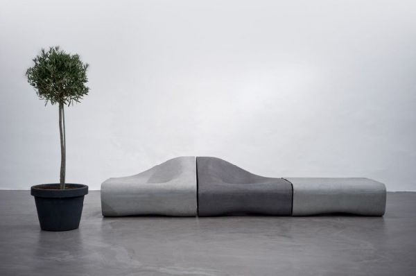 chair design parameters black leather and a half with ottoman modular outdoor seating collection made from cement
