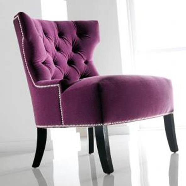 Purple Tufted Chair