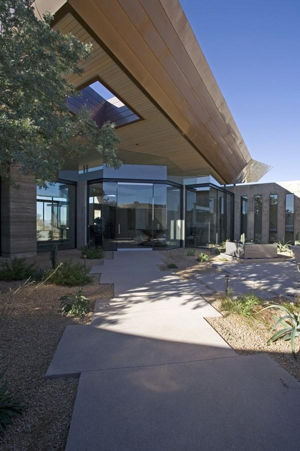 beige color palette living room pendant height splendid rammed earth house in arizona