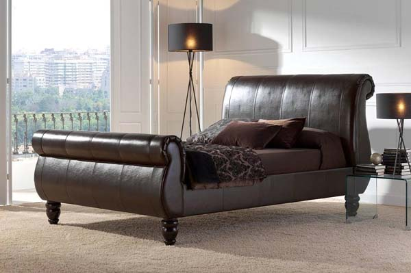 images of living rooms with dark brown leather furniture corner unit room modern or contemporary bedrooms: sleigh beds