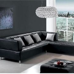 L Shaped Black Leather Sofa Set Diamond Madison Bed 15 Contemporary Corner Sofas For Your House