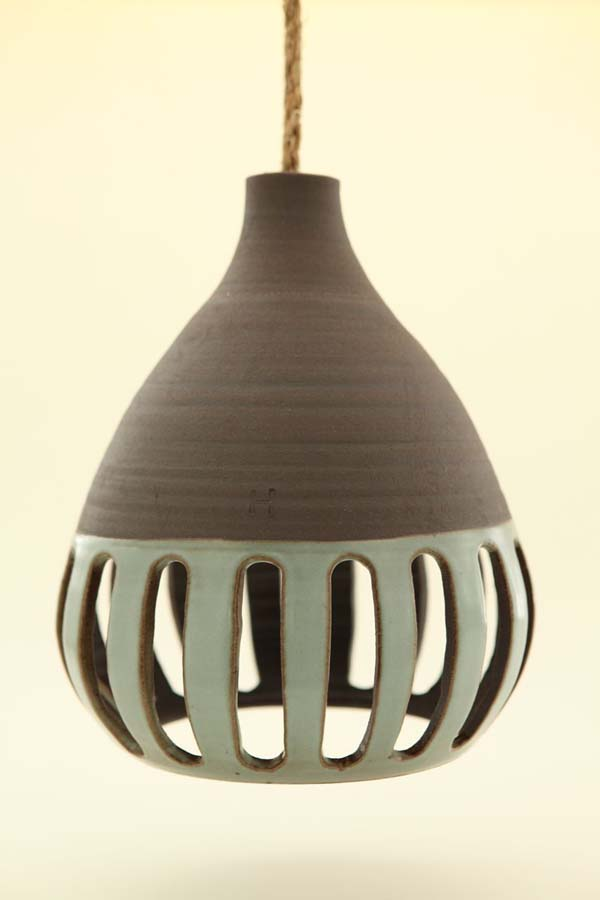 Heather Levines ceramic hanging pendant lights