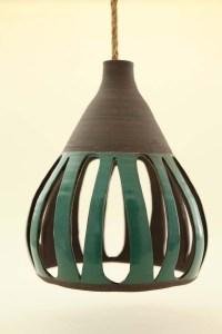Heather Levine's ceramic hanging pendant lights