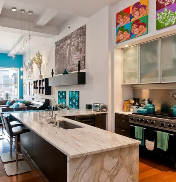 Fabulous New York loft livened with light and colour